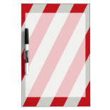 Red and Gray Candy Cane Diagonal Stripes Pattern Dry-Erase Whiteboards