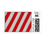 Red and Gray Candy Cane Diagonal Stripes Pattern Stamps