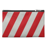 Red and Gray Candy Cane Stripes Pattern Gifts Travel Accessory Bags