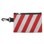 Red and Gray Candy Cane Stripes Pattern Gifts Accessories Bag