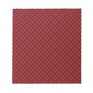 Red and Gray Cross Trellis Memo Pads