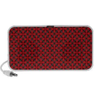 Red and Gray Cross Trellis Speaker System