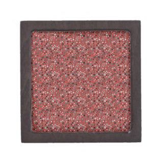 Red and Gray Dots Keepsake Box