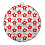 Red and Gray Flower Pattern Dart Boards