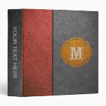 Red and Gray Leather Binders