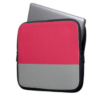 Red and Gray Neoprene Laptop Sleeve
