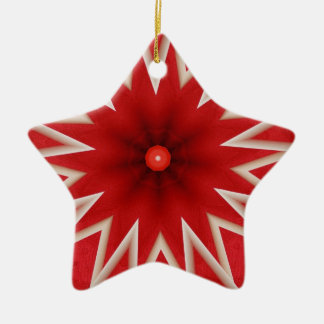 red and gray star abstract star ornament