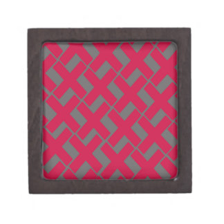 Red and Gray Xs Gift Box