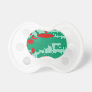 red and green 1123 abstract art pacifier