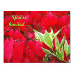 """Red and Green 4.25"""" X 5.5"""" Invitation Card"""