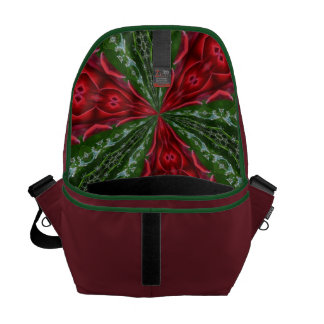 Red and Green-Abstract Messenger Bag