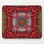 Red and Green Abstract Mouse Pad