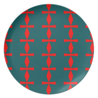 Red and Green Abstract Plate