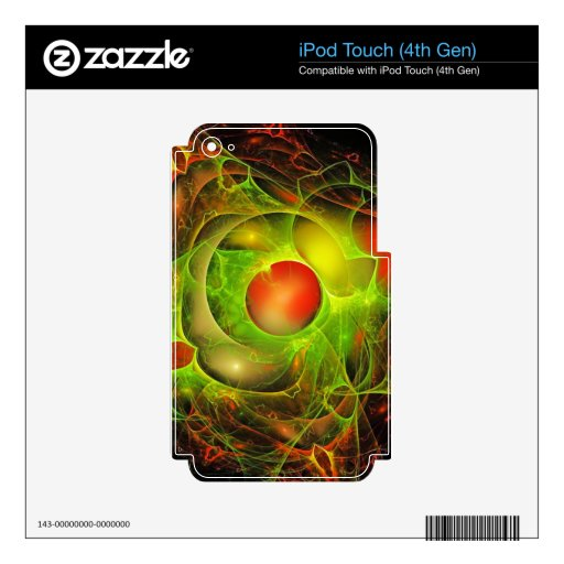 Red and Green Abstract Skin For iPod Touch 4G
