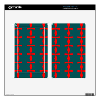 Red and Green Abstract Skins For Kindle Fire