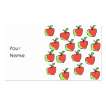 Red and Green Apple Pattern. Business Cards