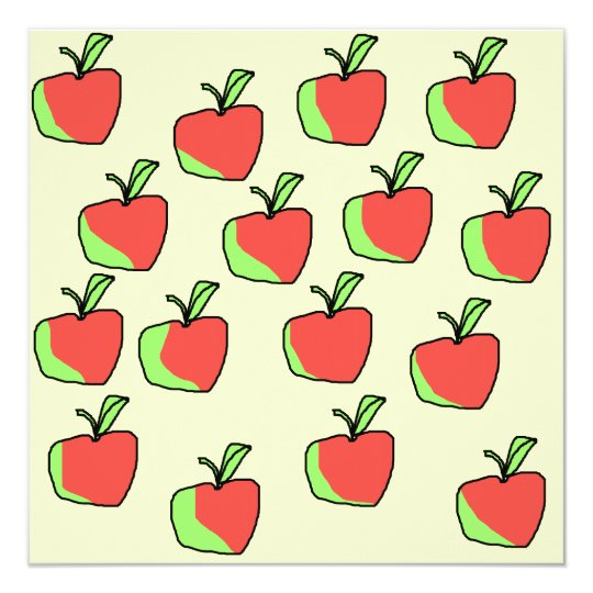 Red and Green Apple Pattern. Card