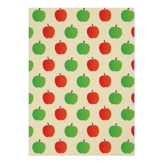 Red and Green Apple Pattern Print