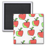 Red and Green Apple Pattern. Refrigerator Magnet