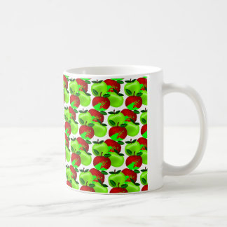 Red and Green apple swatch pattern Coffee Mug