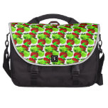Red and Green apple swatch pattern Computer Bag