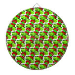 Red and Green apple swatch pattern Dartboard With Darts