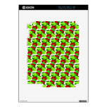 Red and Green apple swatch pattern iPad 2 Decal