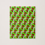 Red and Green apple swatch pattern Jigsaw Puzzles
