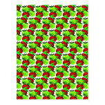 Red and Green apple swatch pattern Postcard