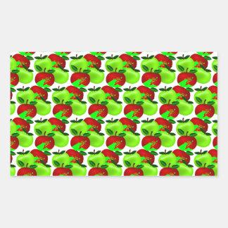 Red and Green apple swatch pattern Rectangular Sticker