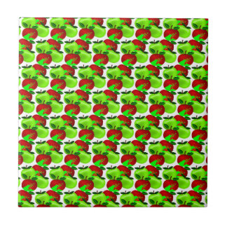 Red and Green apple swatch pattern Tile
