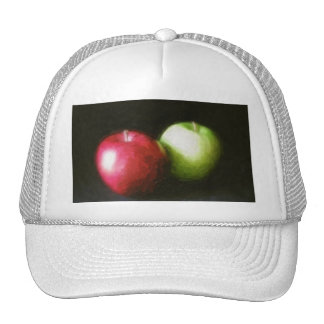 Red and Green Apples 1 Painterly Mesh Hat