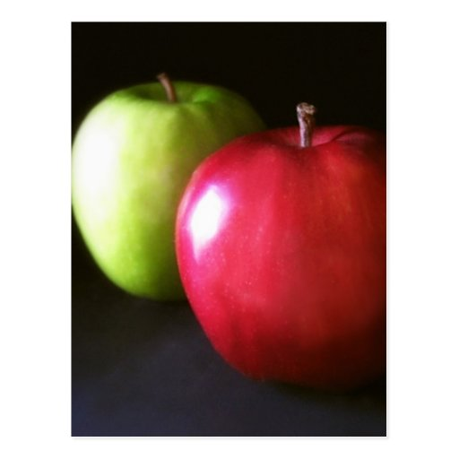 Red and Green Apples 3 - Fruit Art Post Cards