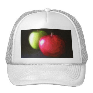 Red and Green Apples 3 Painterly Trucker Hats