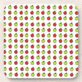 Red and Green Apples Beverage Coaster