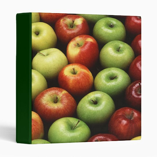 Red and Green Apples Binder