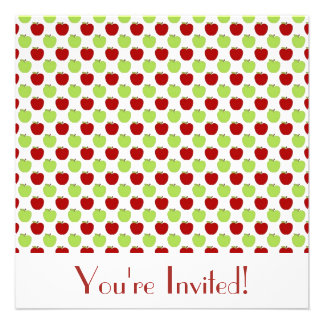 Red and Green Apples Invitation