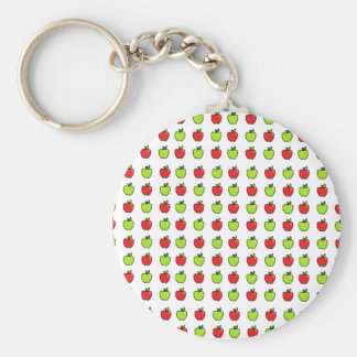 Red and Green Apples Keychain