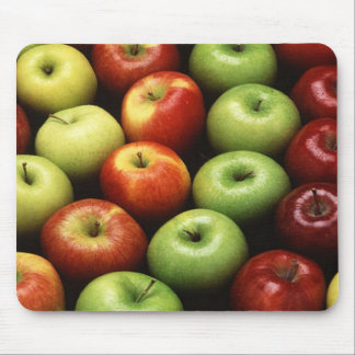 Red and Green Apples Mouse Pad