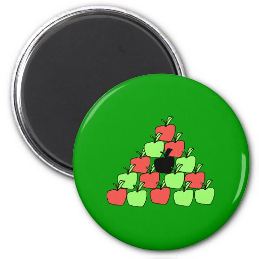 Red and Green Apples. Pool Balls, Triangle. Magnet
