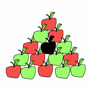 Red and Green Apples. Pool Balls, Triangle. Cut Out