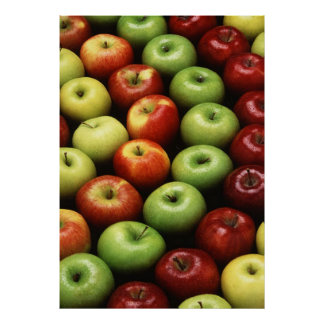 Red and Green Apples Poster
