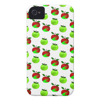 Red and Green apples swatch pattern iPhone 4 Case-Mate Case