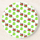 Red and Green apples swatch pattern Beverage Coaster