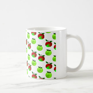 Red and Green apples swatch pattern Mugs