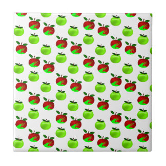 Red and Green apples swatch pattern Ceramic Tiles