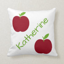 Red and Green Apples Teacher's Throw Pillow