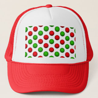 Red and Green Basketball Pattern Trucker Hat