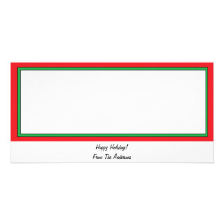 Red and Green Border Photo Card