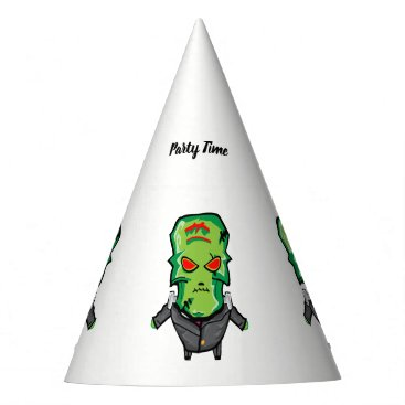 Halloween Themed Red and green cartoon Halloween Frankenstein Party Hat